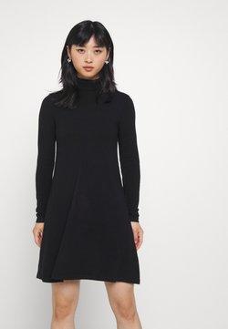 Vero Moda Petite - VMHAPPINESS ROLLNECK DRESS - Neulemekko - black