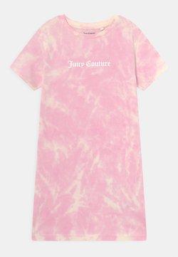 Juicy Couture - TIE DYE TEE DRESS - Trikoomekko - fuchsia pink