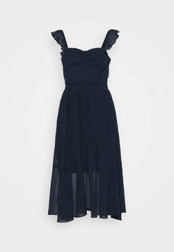 Club Monaco - PLEATED FLOUNCE DRESS - Sukienka koktajlowa - blueberry