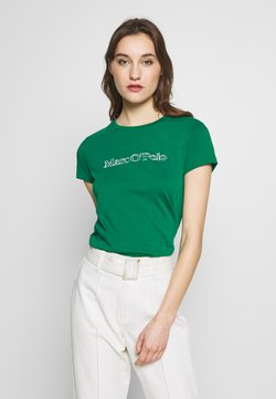 Marc O'Polo - SHORT SLEEVE ROUND NECK - T-Shirt print - spring forest