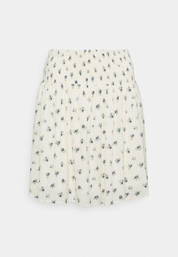 Pieces - PCTHEA SMOCK SKIRT - Minifalda - cloud dancer