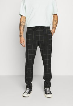 Only & Sons - ONSLINUS LONG CHECK  - Stoffhose - black