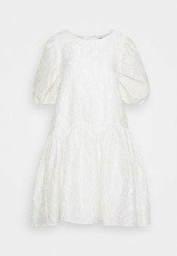 Selected Femme - SLFWINA SLEEEVE SHORT DRESS  - Juhlamekko - white