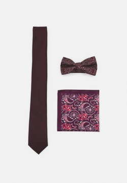 Burton Menswear London - SET - Krawatte - burgundy