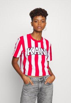 Karl Kani - COLLEGE STRIPE TEE - T-Shirt print - white/red