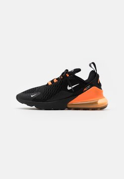 Nike Sportswear - AIR MAX 270 HU UNISEX - Sneakersy niskie - black/metallic silver/laser orange