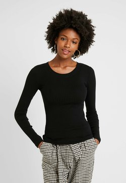 Even&Odd Tall - BASIC CREW NECK LONG SLEEVES - Langarmshirt - black