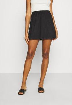 Even&Odd - BASIC - Mesh mini skirt - Gonna a campana - black