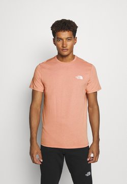 The North Face - MENS SIMPLE DOME TEE - Camiseta básica - pink clay
