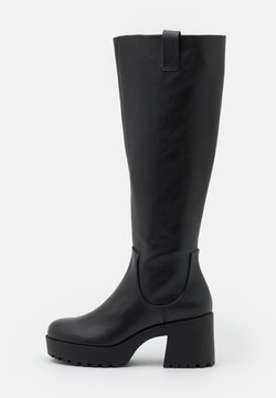 Monki - VEGAN SADIE BOOT - Plateaustøvler - black dark