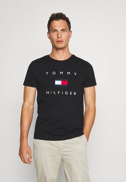 Tommy Hilfiger - FLAG TEE - T-shirt con stampa - black