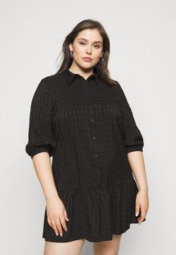 ONLY Carmakoma - CARPIERRA TUNIC DRESS - Freizeitkleid - black