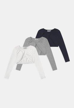 happy girls - BOLERO 3 PACK - Gilet - navy/grey melange/white