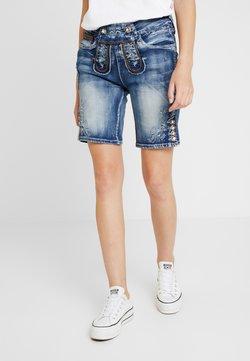 Marjo - FRANZISKA BERMUDA - Jeans Shorts - blau