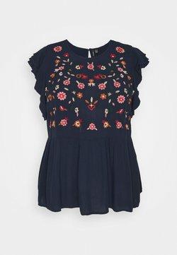 Vero Moda Curve - VMKARLINA - T-Shirt print - navy blazer