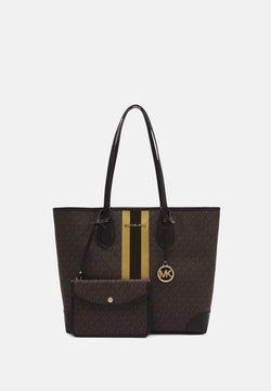 MICHAEL Michael Kors - EVALG TOTE - Shopper - brown/gold