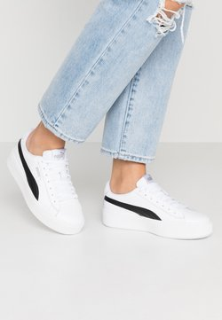 Puma - VIKKY STACKED - Matalavartiset tennarit - white/black
