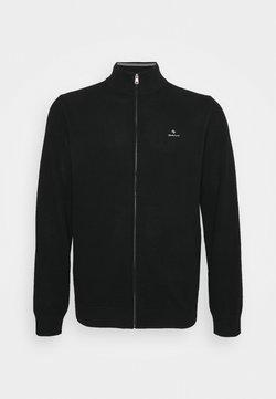 GANT - PLUS ZIP - Cardigan - black