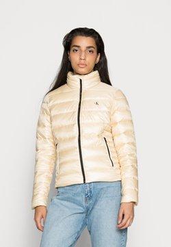 Calvin Klein Jeans - BACK LOGO ELASTIC MOTO JACKET - Winterjacke - muslin