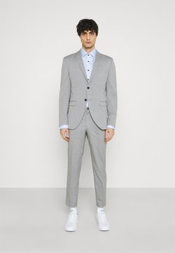 Selected Homme - SLHSLIM MYLOLOGAN CROP SUIT - Anzug - light grey melange
