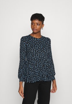 New Look - TIER PRINTED PEPLUM - Bluse - black