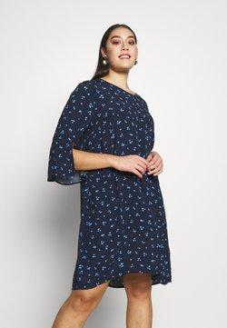 MY TRUE ME TOM TAILOR - FLARE SLIT SLEEVE DRESS - Freizeitkleid - navy/blue
