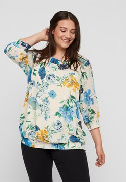 Zizzi - AND SMOCK DETAIL - Bluse - aop flower