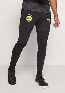 Puma - BVB BORUSSIA DORTMUND TRAINING PANTS - Vereinsmannschaften - black