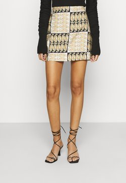 CMEO COLLECTIVE - ARCHAIC SKIRT - A-Linien-Rock - black/white/multi coloured