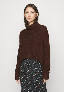 ONLY - ONLOLIVIA LOOSE ROLLNECK  - Jersey de punto - chocolate brown