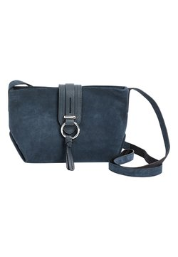 Next - MINK LEATHER AND SUEDE ACROSS-BODY BAG - Torba na ramię - blue