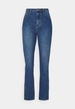 Missguided Petite - WRATH HIGHWAISTED SPLIT - Straight leg jeans - blue