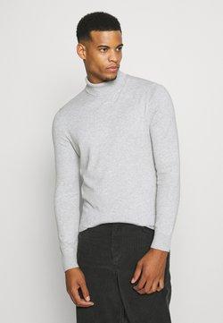 Burton Menswear London - FINE GAUGE ROLL  - Pullover - light grey