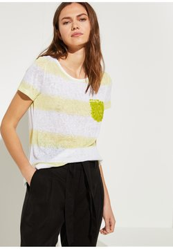 comma casual identity - T-Shirt print - yellow stripes