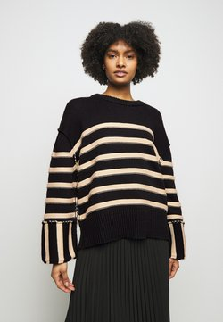 House of Dagmar - MAZZY ROUNDNECK - Pullover - black