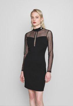 WAL G. - LONG SLEEVE DETAILED DRESS - Vestido de tubo - black