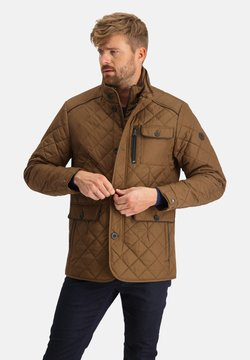 State of Art - Winterjacke - mango/dark brown