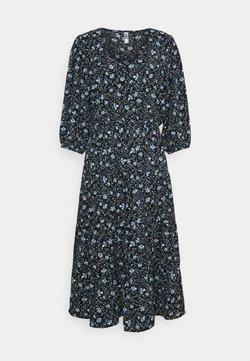JDY - JDYVICKY ABOVE CALF DRESS - Freizeitkleid - black