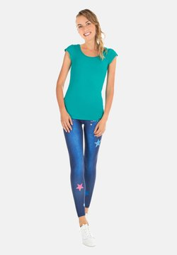 Winshape - HWL102 INDIGO-BLUE HIGH WAIST -TIGHTS - Tights - indigo blue