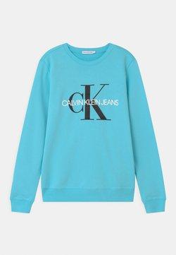 Calvin Klein Jeans - MONOGRAM LOGO UNISEX - Felpa - bright sky