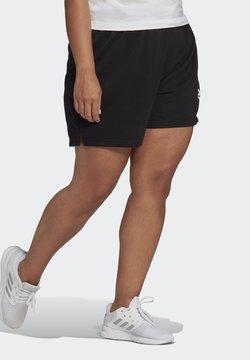 adidas Performance - ESSENTIALS SLIM LOGO SHORTS (PLUS SIZE) - Krótkie spodenki sportowe - black/white