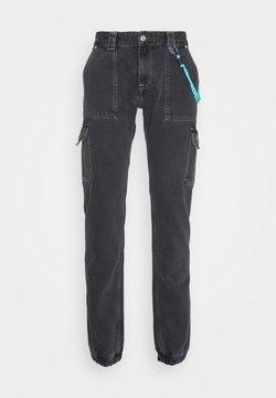 Tommy Jeans - SCANTON CARGO - Straight leg -farkut - save black rigid