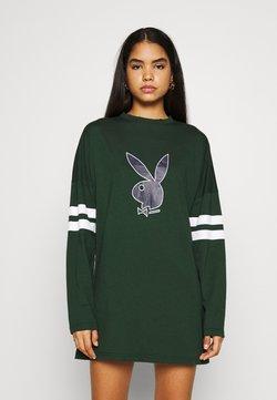Missguided - PLAYBOY VARSITY BUNNY DRESS - Vestido ligero - green