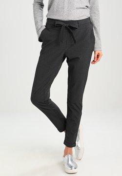 Kaffe - JILLIAN BELT PANT - Spodnie materiałowe - dark grey melange