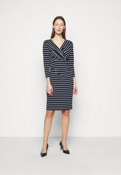 Lauren Ralph Lauren - PRINTED MATTE DRESS - Etuikleid - lighthouse navy