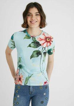 Desigual - T-shirt con stampa - blue