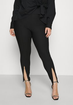 Noisy May Curve - NMSALLIE FRONT DETAIL LEGGING CURVE - Leggings - Trousers - black