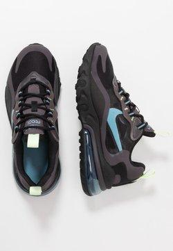Nike Sportswear - AIR MAX 270 REACT - Sneakers laag - black/cerulean/thunder grey/barely volt