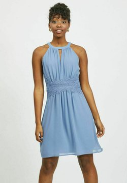 Vila - VIMILINA HALTERNECK - Cocktailkleid/festliches Kleid - colony blue