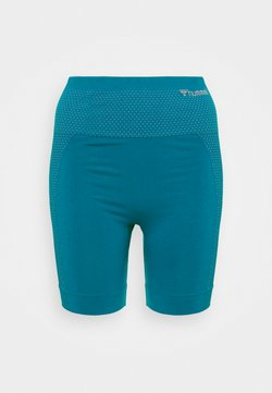 Hummel - HMLFELICITY SEAMLESS SHORTS - Tights - mykonos blue